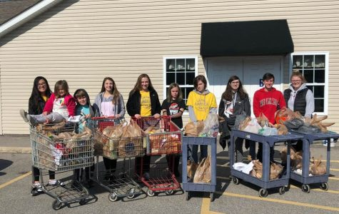 FBLA Achieves Goal of Giving Back with Canned Food Drive