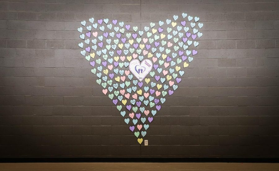 The+%22Heart+of+Hearts%22+is+found+on+the+wall+of+F+stairwell.+Many+students+and+staff+members+have+admired+their+names+up+on+the+wall.+