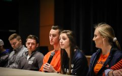 Former athletes share their experiences in Q and A panel