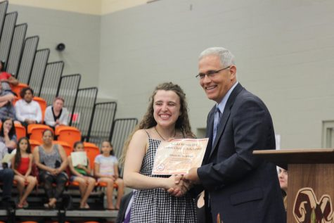 MV Senior Chloe Flanigan shows State Senator updated portfolio