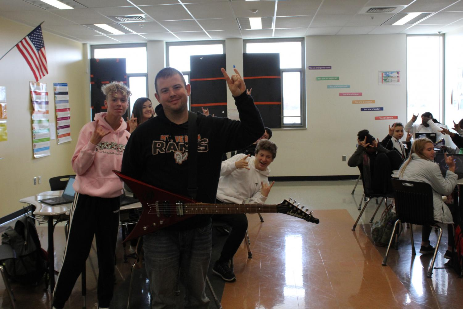 Mr. Dylan Moore: Guitar-playing Gladiator grows in role in Communication Arts